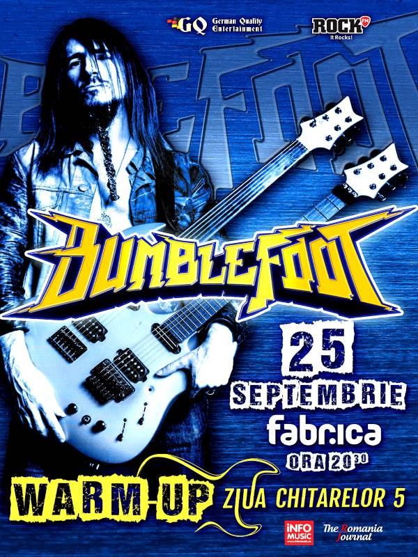Bumblefoot - Warm-up Party pentru Ziua Chitarelor 5 la Fabrica