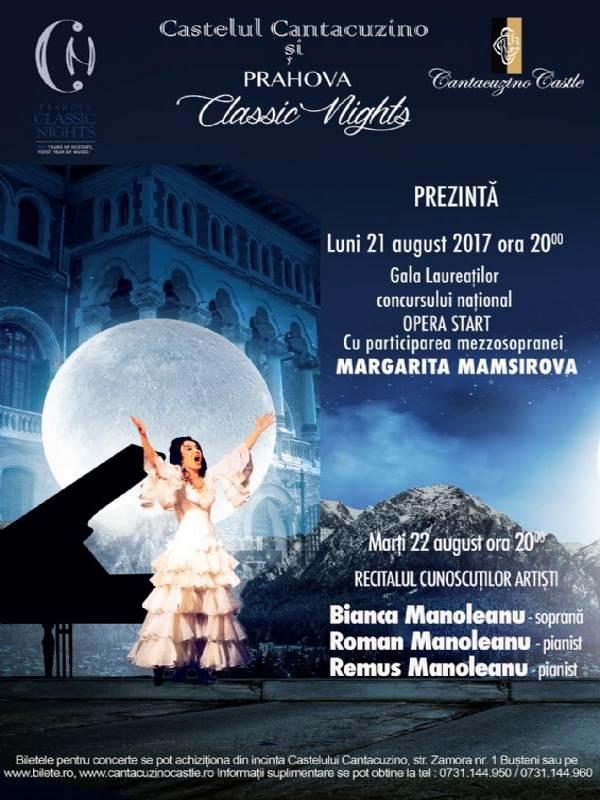 Gala Laureaților concursului național Opera Start la Castelul Cantacuzino