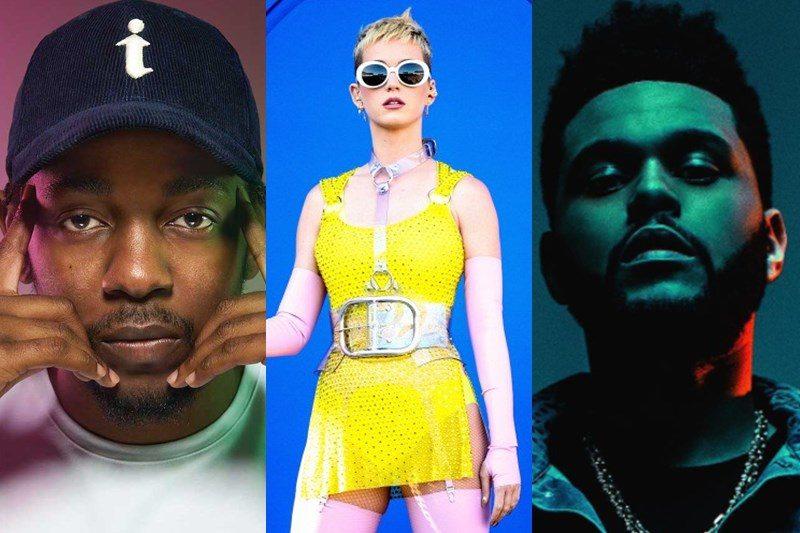 Kendrick Lamar / Katy Perry / The Weekend
