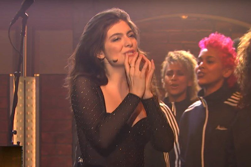 Lorde live@Seth Meyers