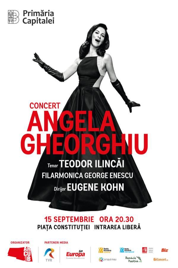 Angela Gheorghiu la Piața Constituției