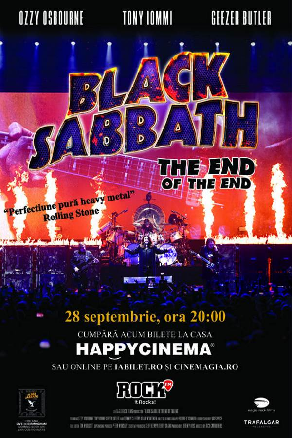 Black Sabbath - The End Of The End la Happy Cinema