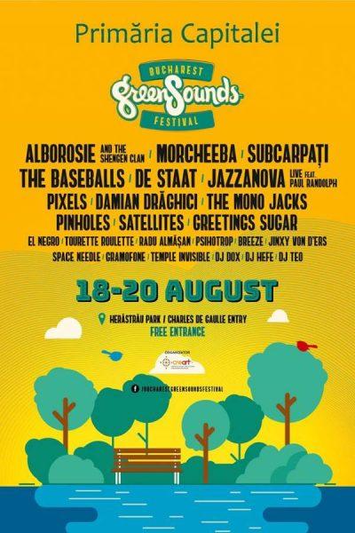 Poster eveniment BUCHAREST GreenSounds FESTIVAL 2017