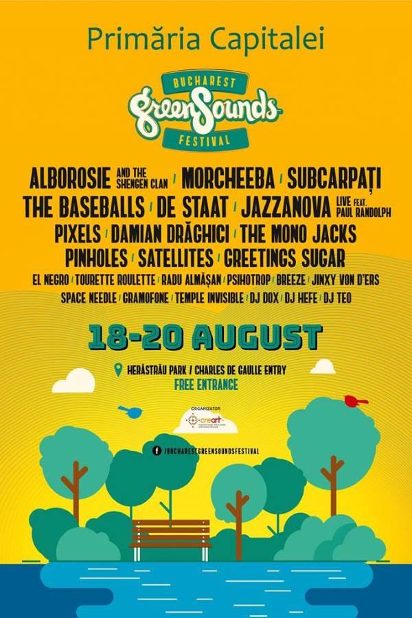 BUCHAREST GreenSounds FESTIVAL 2017 la Parcul Herăstrău