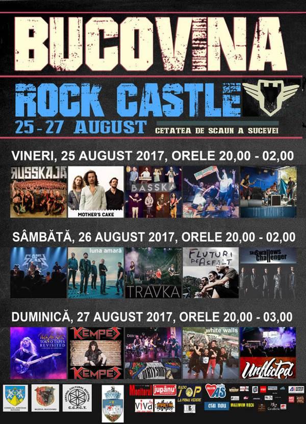 Bucovina Rock Castle 2017 la Cetatea de Scaun a Sucevei