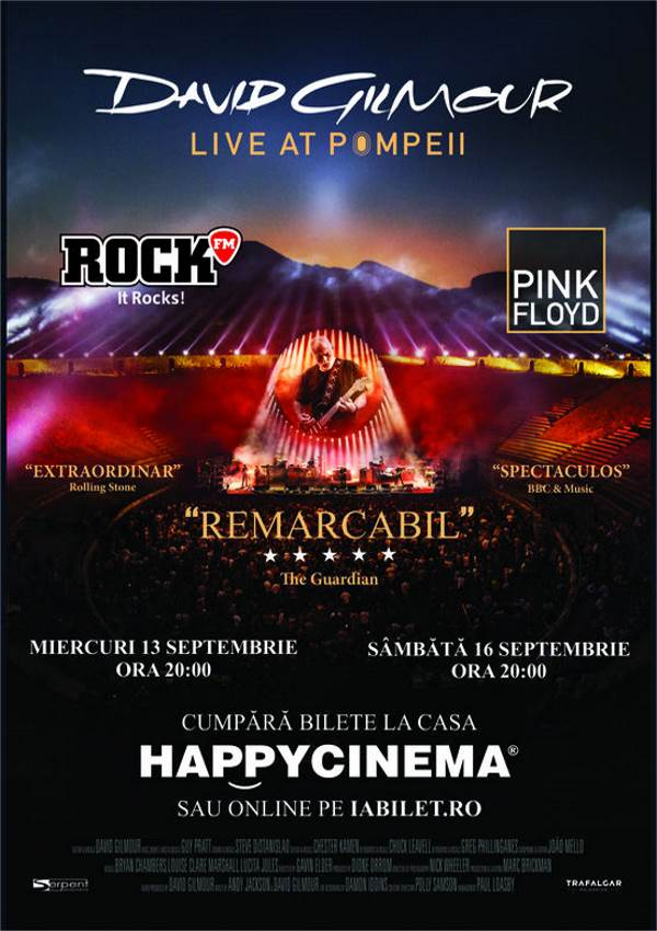 David Gilmour - Live At Pompeii la Happy Cinema