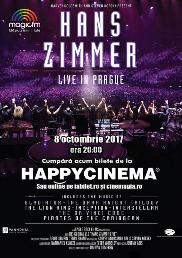 Hans Zimmer live in Praga la Happy Cinema