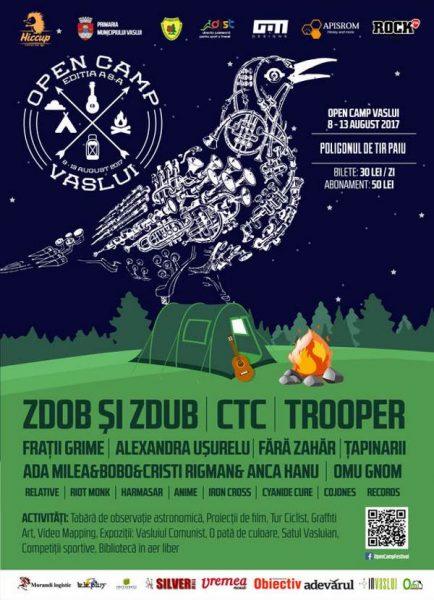 Poster eveniment Open Camp Vaslui 2017