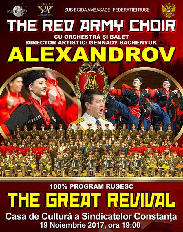 SOLD-OUT The Red Army Choir la Casa de Cultură a Sindicatelor Constanța