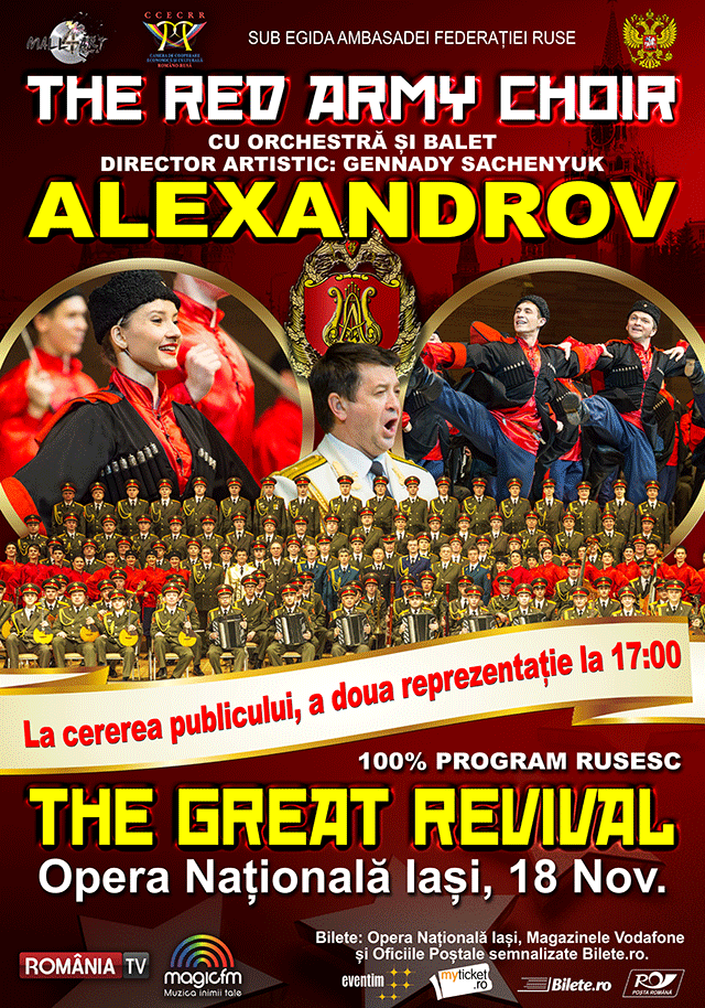 The Red Army Choir la Opera Română Iași