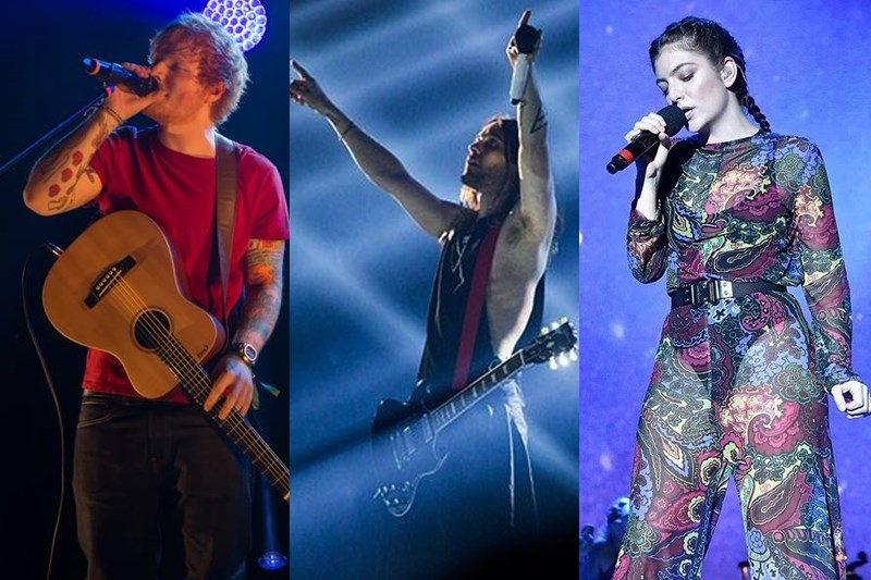 Ed Sheeran / Jared Leto / Lorde