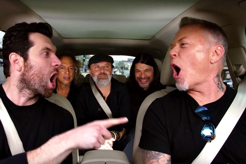 Metallica la Carpool Karaoke