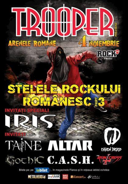 """Afiș """"Stelele Roclului Românesc"""", ediția a III-a"""