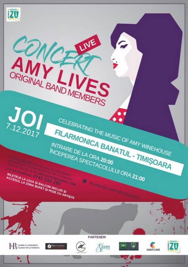 Amy Lives la Filarmonica Banatul din Timișoara