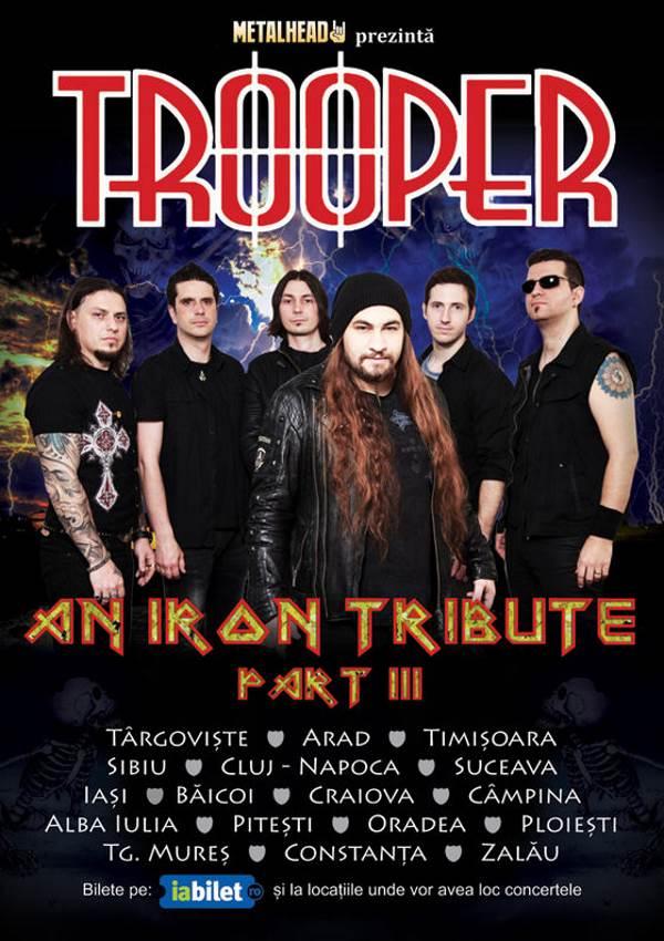 Trooper - An Iron Tribute la Hard Club Cluj