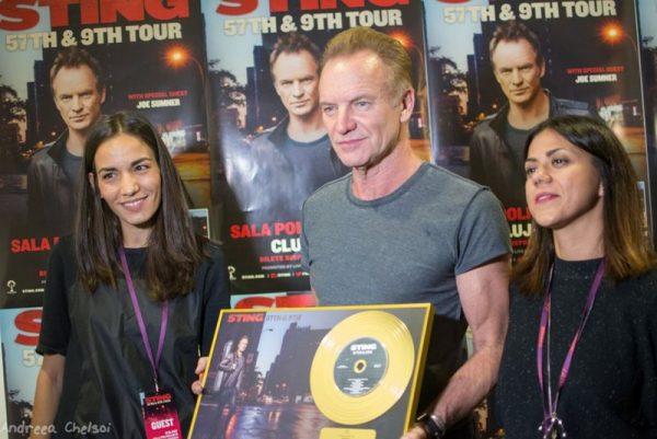 """Sting a primit Discul de Aur pentru vânzările albumului """"57th & 9th"""""""