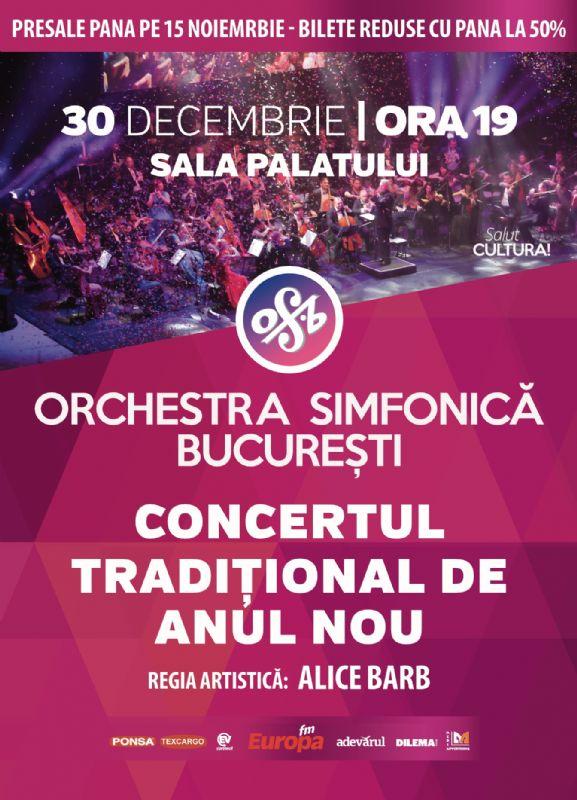 Concert Tradițional de Anul Nou la Sala Palatului