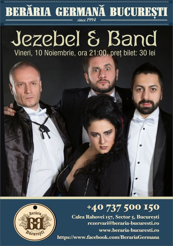 Jezebel & Band la Berăria Germană Bragadiru