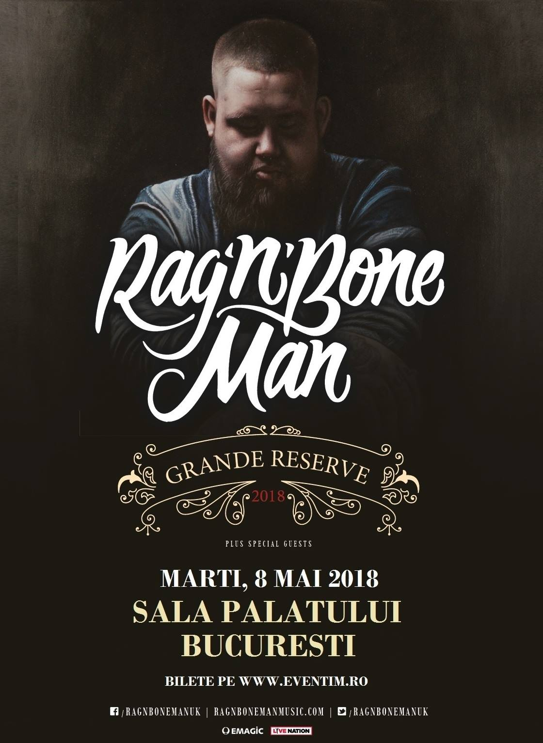 ANULAT - Rag'n'Bone Man la Sala Palatului