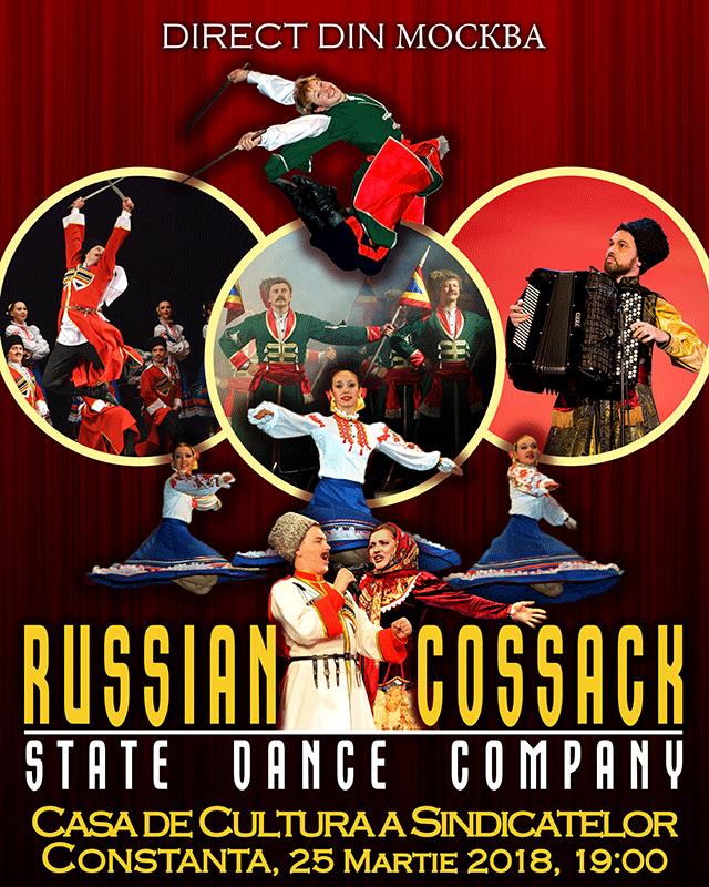 Russian Cossack State Dance Company la Casa de Cultură a Sindicatelor Constanța