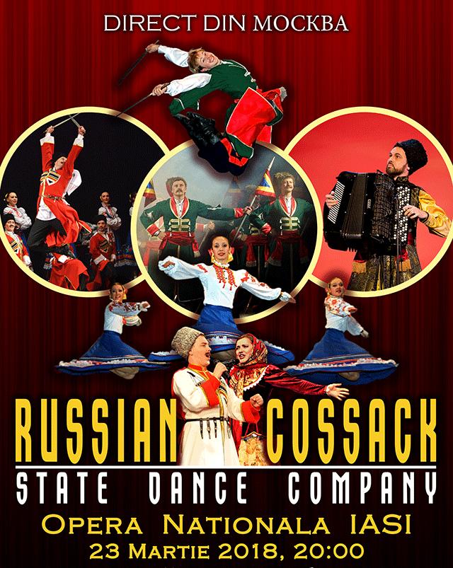 Russian Cossack State Dance Company la Opera Română Iași