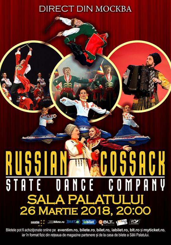 Russian Cossack State Dance Company la Sala Palatului