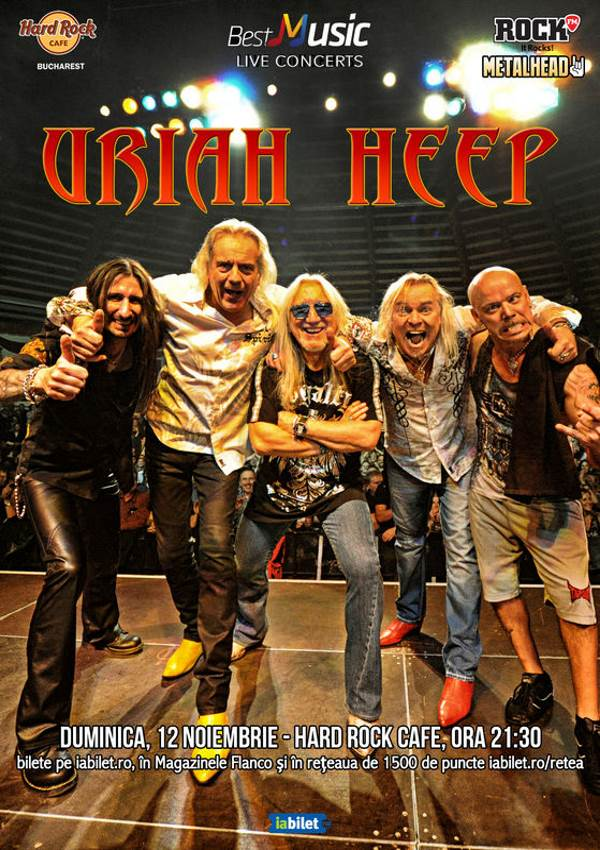 Uriah Heep la Hard Rock Cafe