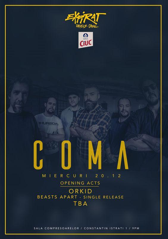 Coma / Orkid / TBA la Expirat Club