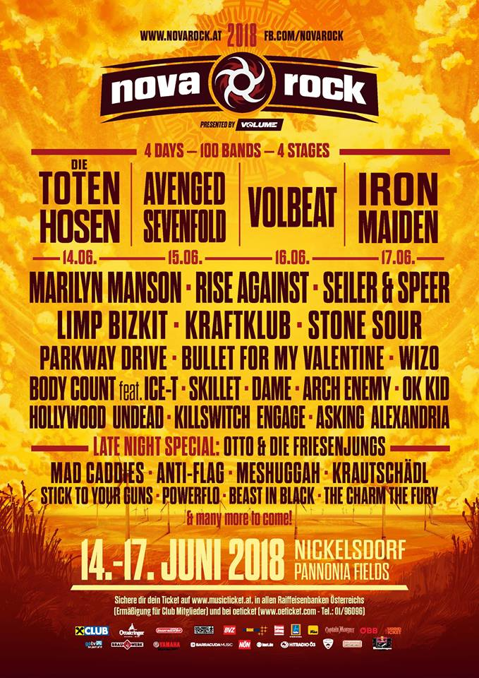 Nova Rock 2018 la Nickelsdorf (Pannonia Fields II) - Austria