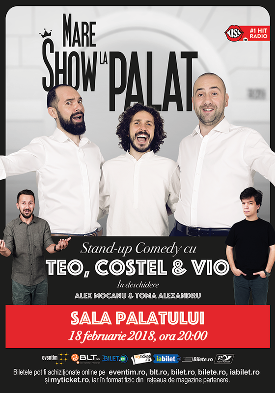 Teo, Vio și Costel - SOLD OUT la Sala Palatului