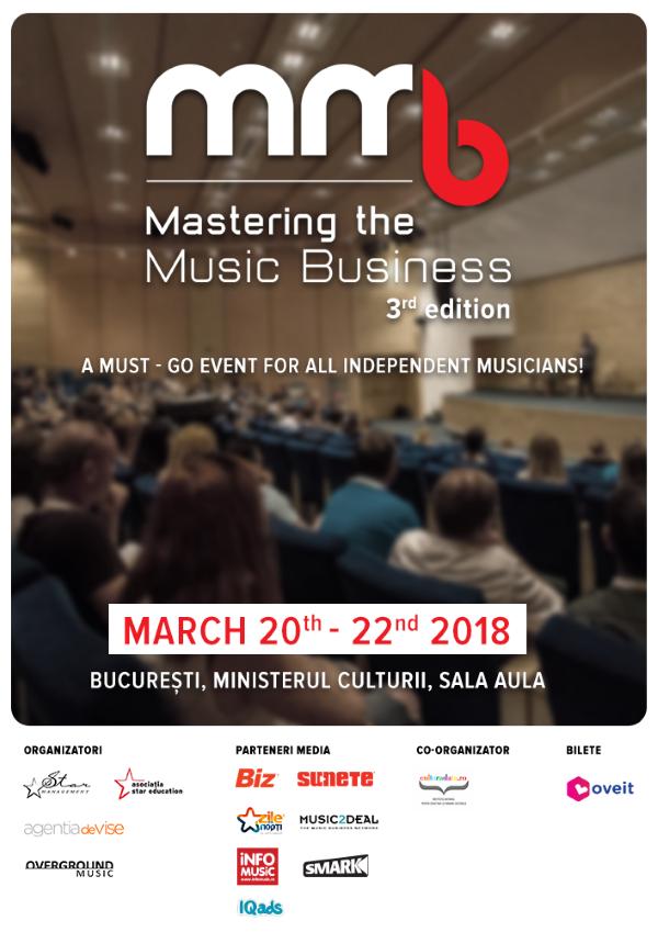 Mastering the Music Business 2018 la Ministerul Culturii