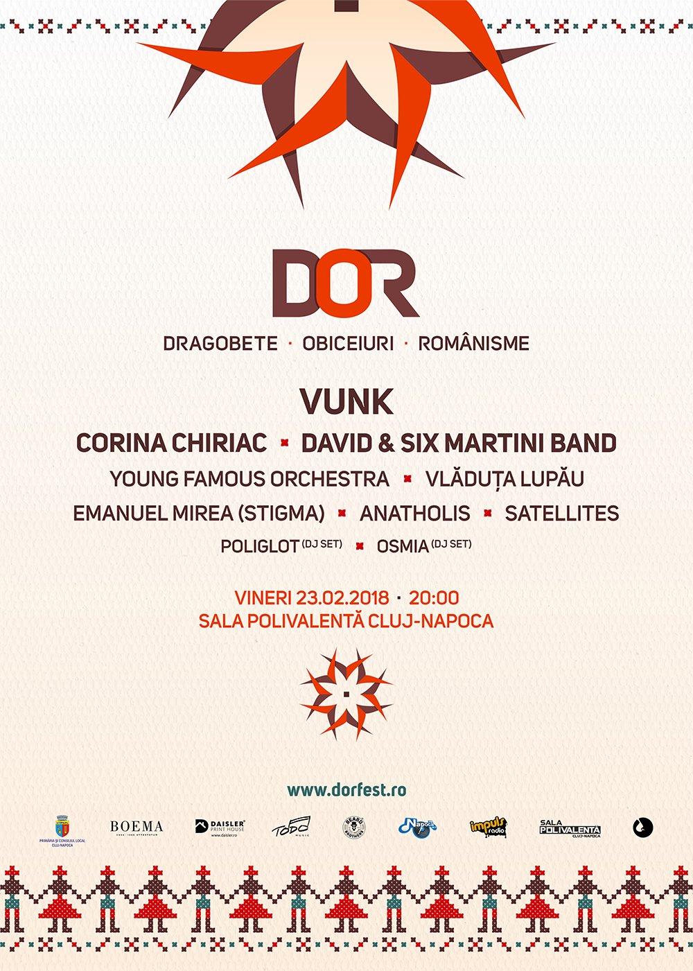 DOR (Dragobete, Obiceiuri, Românisme) la Sala Polivalentă Cluj-Napoca
