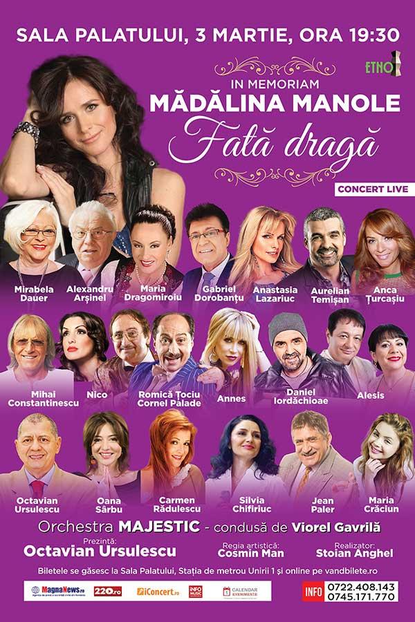 Concert In Memoriam Mădălina Manole la Sala Palatului
