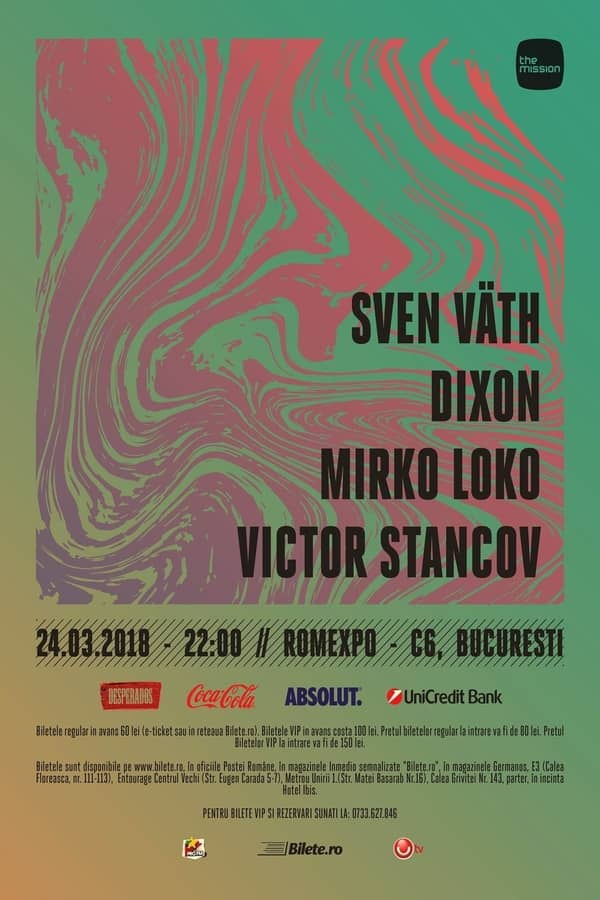The Mission Pres. Sven Vath, Dixon, Mirko Loko, Victor Stancov la Romexpo