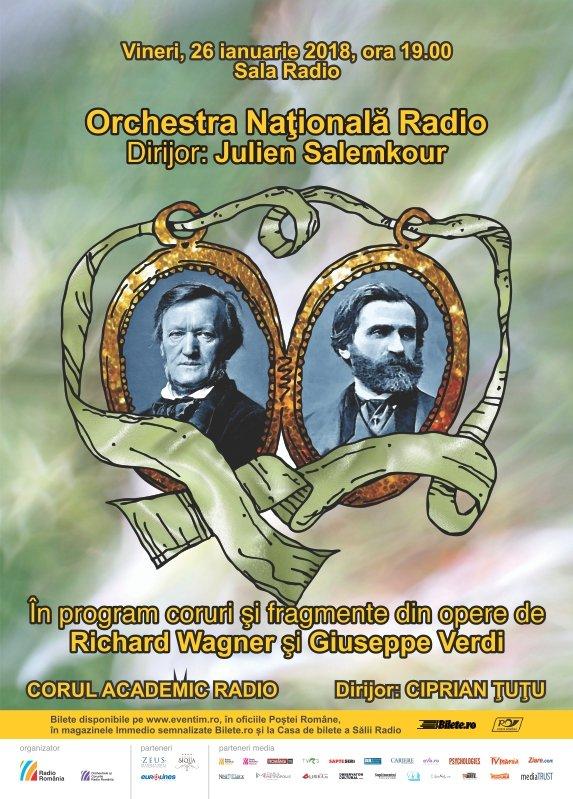 Orchestra Națională Radio - Wagner, Verdi la Sala Radio