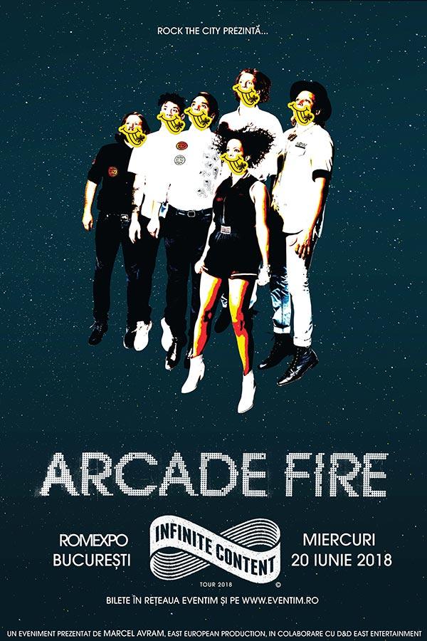 Arcade Fire la Romexpo