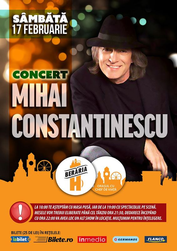 Mihai Constantinescu la Berăria H