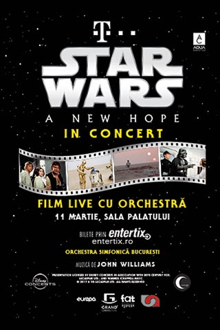 Star Wars live in concert - A New Hope la Sala Palatului