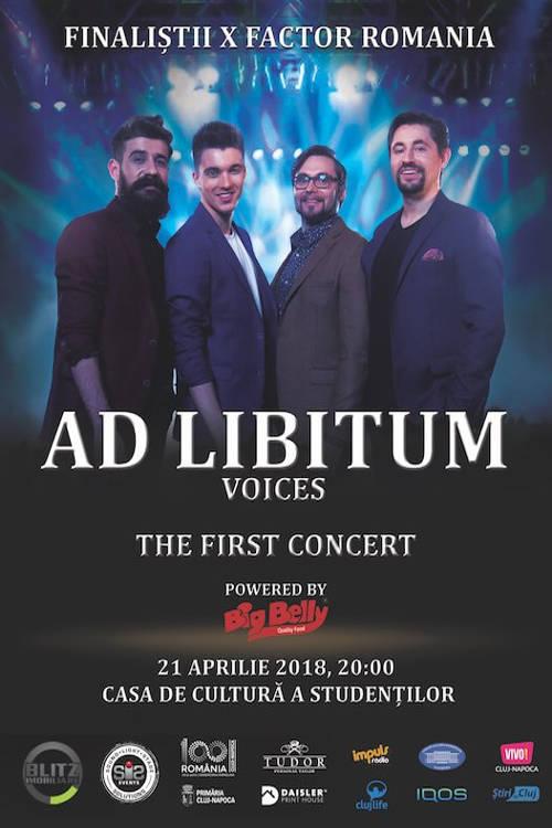 Ad Libitum Voices la Casa de Cultură a Studenților Cluj Napoca
