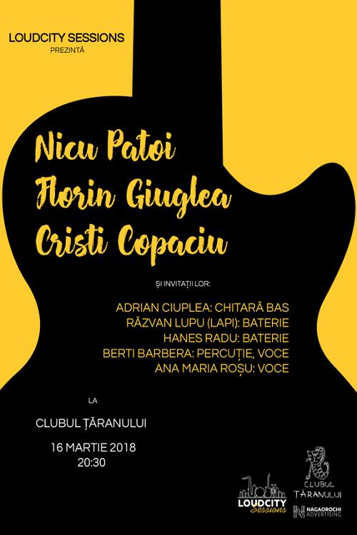 Nicu Patoi, Florin Giuglea, Cristi Copaciu la Clubul Țăranului Român