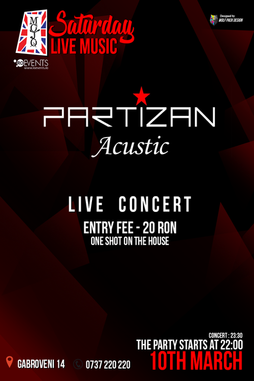 Partizan acustic la Club Mojo