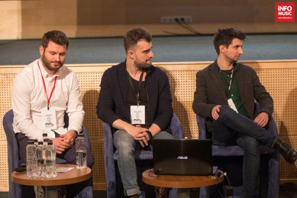Discuții despre playlisturile radio la MMB cu Alexandru Anghel (Radio Guerrilla), Andrei Stroe (Virgin Radio), Dragoș Vulgaris (Digi FM)