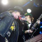 Axl Rose în concert cu AC/DC