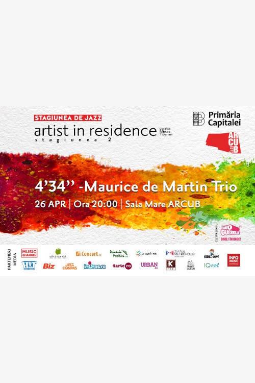 4'34'' – Maurice de Martin Trio la ARCUB