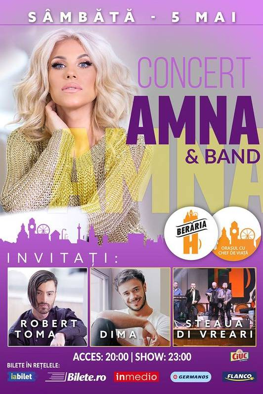 Amna - concert aniversar la Berăria H