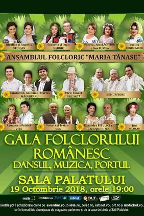 Gala Folclorului Românesc - ANULAT la Sala Palatului