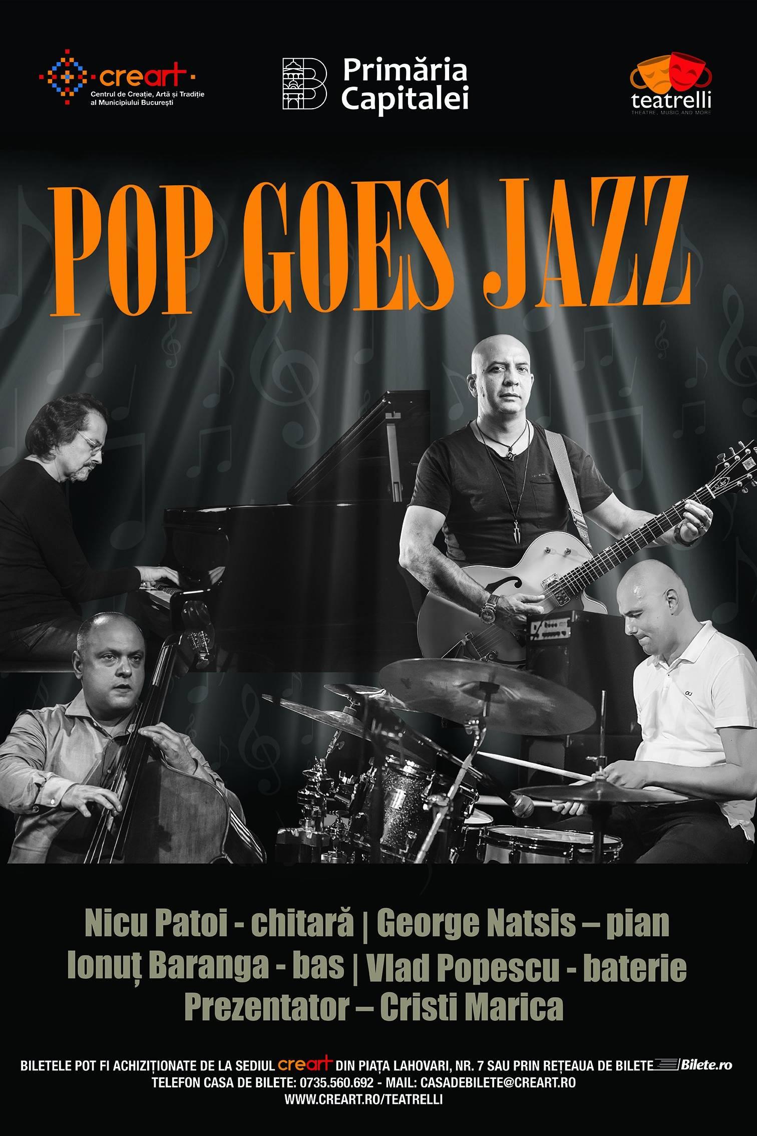 Pop Goes Jazz la teatrelli - theatre, music & more