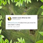 Weezer Africa Toto cover Tweet