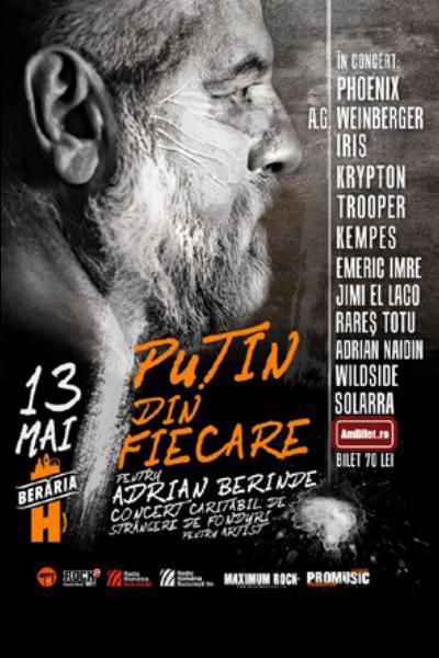 Concert caritabil pentru Adrian Berinde la Berăria H