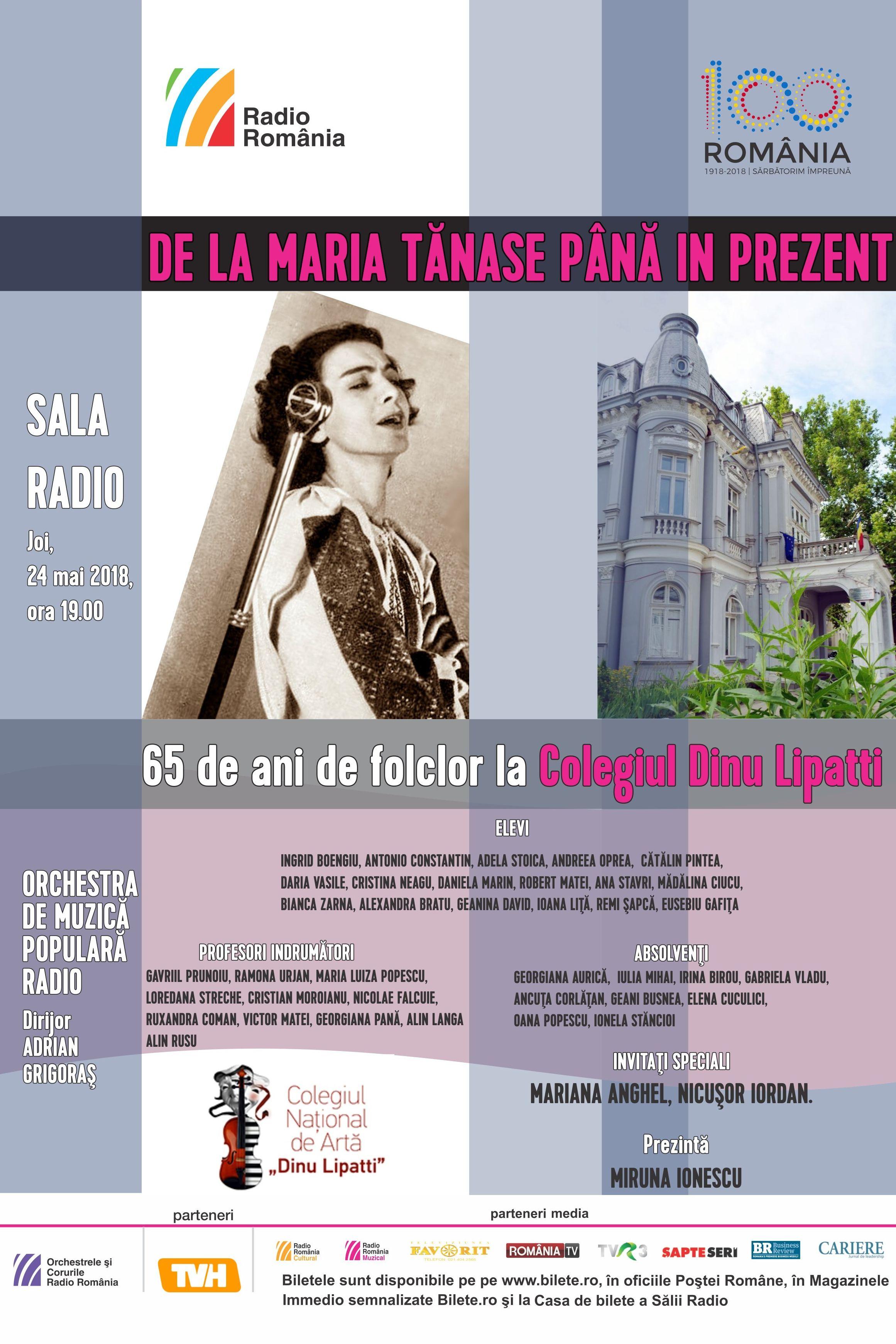 De la Maria Tănase până în prezent la Sala Radio